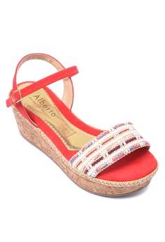 Cork Wedge Sandals
