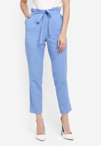 Miss Selfridge blue Paper Bag Trousers 32B43AA5A783AEGS_1