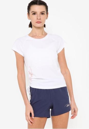 361° white Running Series Short Sleeve T-shirt 188DDAA7266365GS_1