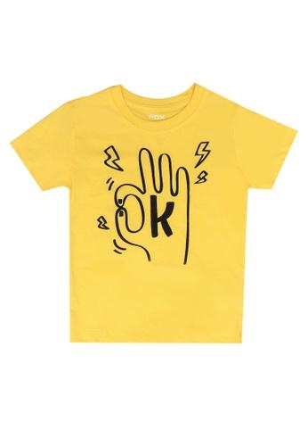 FOX Kids & Baby yellow Okay Tee 46745KA818CE53GS_1