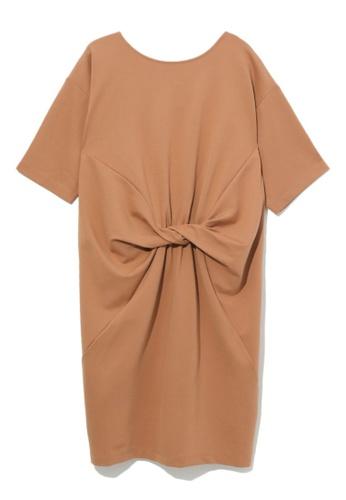 b+ab beige Twisted dress 109E5AACE15F4FGS_1