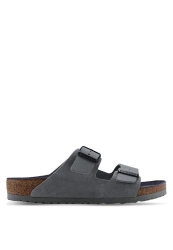 2e499b9e6d9f Birkenstock grey Arizona Natural Leather Sandals 7EC4ESH63763EAGS 1