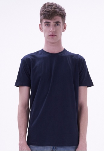 Drum navy Crew Neck T-Shirt DR425AA24OFNMY_1