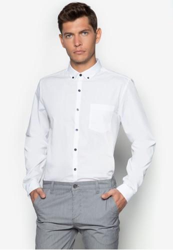 貼身長袖商務襯衫, 服飾, 素色襯esprit服飾衫
