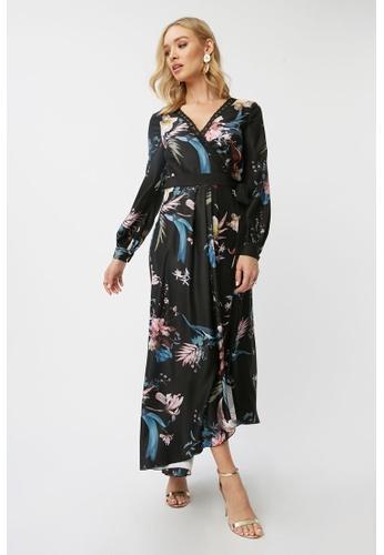 Little Mistress multi Floral Print Maxi Dress B5B74AAA2F56AFGS_1