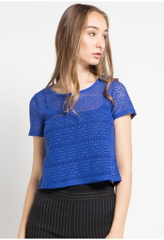 Image of 10786 NET CROP BLOUSE