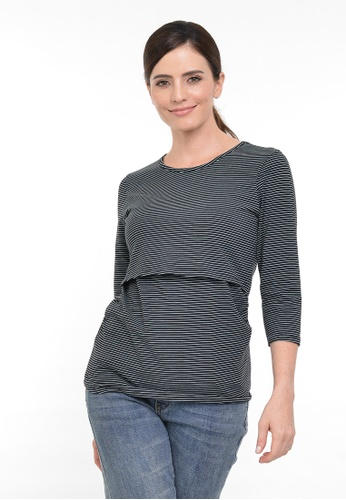 9months Maternity green Green Perfect Fit Round Neck Nursing Top F083DAAF6CD5DCGS_1