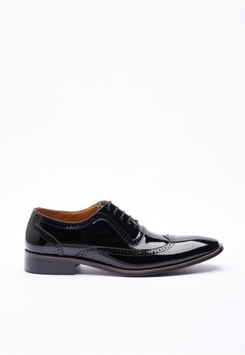 Kings Collection black Dorado Patent Leather Shoes FF235SH595D76DGS_1