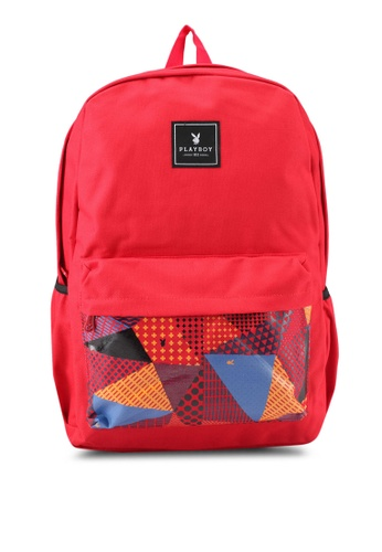 Playboy red Playboy Casual Backpack PL371AC0SJYGMY_1