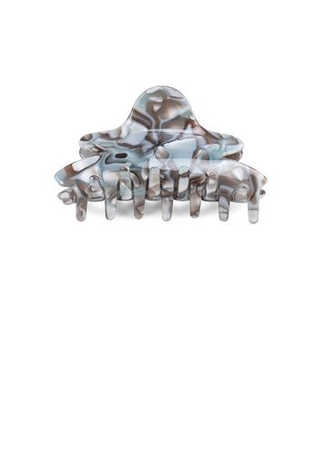 Glamorousky silver Fashion and Elegant Gray Pattern Hair Claw 340B1AC9A55474GS_1