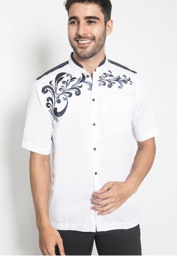 LGS white LGS - Baju Koko - Kemeja Koko - Koko Bordir Batik - Putih - Slim Fit - JSH.385.S1007KF.303.C AE002AAE9A6922GS_1