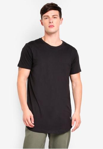Brave Soul 黑色 Longline Short Sleeve T-Shirt FD198AA7A4A9DDGS_1