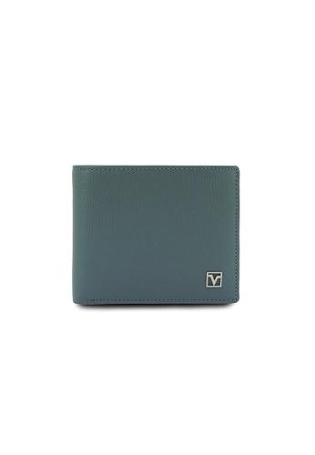 Valentino Rudy grey Valentino Rudy RFID Secure Leather Bi-fold Wallet VA677AC0GNOOSG_1