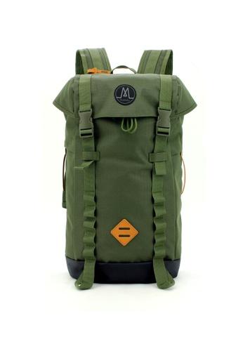 MORAL green Northside Flip Top Backpack - Military BD9E0AC349C6D7GS_1