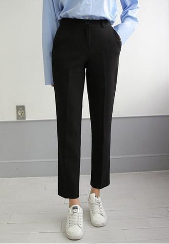 純黑高腰西褲, zalora鞋服飾, 直腳褲
