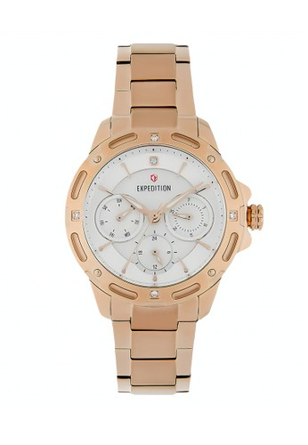 Expedition gold Expedition Jam Tangan - Rosegold White - Stainless Steel - 6760 BFBRGSL 05EFDAC37DC348GS_1