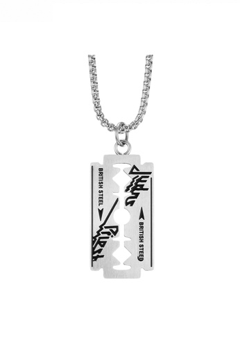 HAPPY FRIDAYS Hip Hop Style Razor Blade Pendant Necklace JW QF-DZ223 5B0D3AC2AF9B51GS_1
