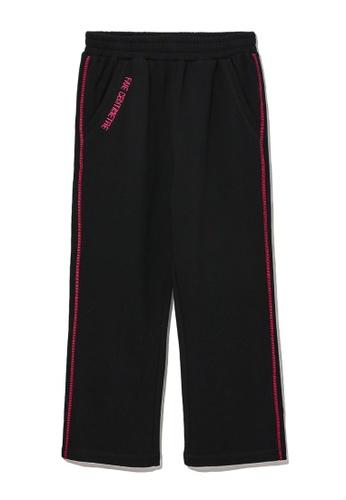 Fivecm black Contrast stitch sweatpants 9B2D0AA2413C80GS_1