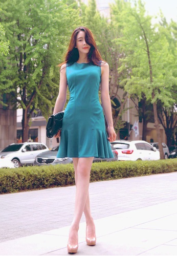 Shopsfashion blue Lilian Tortoise Blue Mermaid Dress SH656AA68IVJSG_1