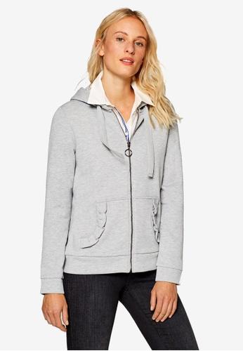 ESPRIT 灰色 混色長袖T恤 A7616AA52087FAGS_1