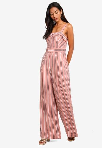 c9f90eb8b339 Buy Forever New Sally Stripe Jumpsuit Online on ZALORA Singapore