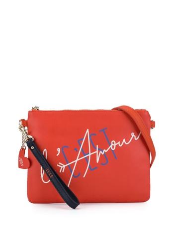 ELLE orange Amour Wristlet B5C5CAC4F01FE9GS_1