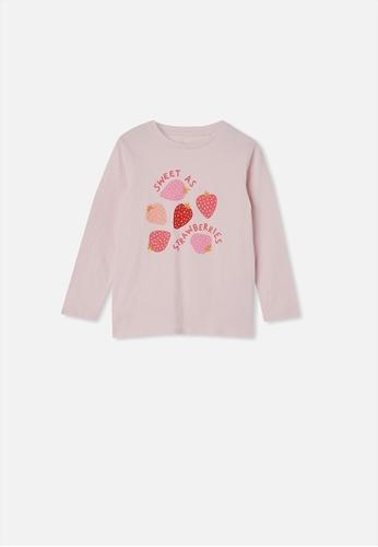 Cotton On Kids pink Penelope Long Sleeve Tee 97122KAC47262FGS_1