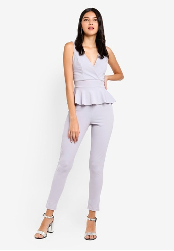 79d855d418 Shop WALG Peplum Jumpsuit Online on ZALORA Philippines