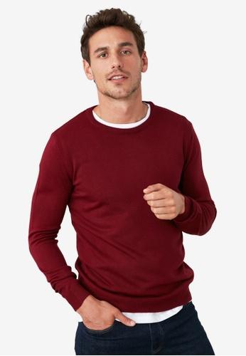 Trendyol red Basic Crew Neck Sweater 4FC78AA6FA2AA8GS_1