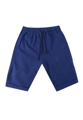 LC Waikiki blue Baby Boy's Cotton Bermuda Shorts 9A1DEKAB78E95BGS_1