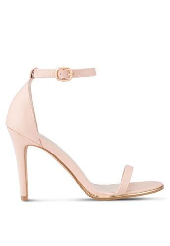 ZALORA pink Ankle Strap Sandal Heels 8315ASH7B017FAGS_1