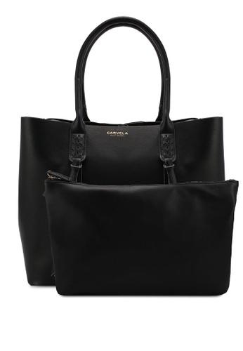 Carvela KG black Selena Plait Front Minimal Tote Bag 1DD4BAC235C58BGS_1