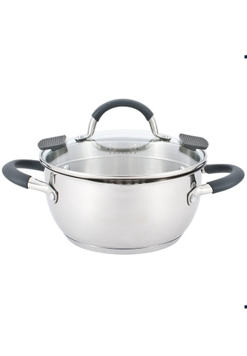 METRO silver 24cm Stainless Steel Casserole With Lid BF3F3HLF671FF5GS_1
