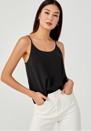 Love, Bonito black Indira Textured Camisole Top CEE2EAA1599D4EGS_1