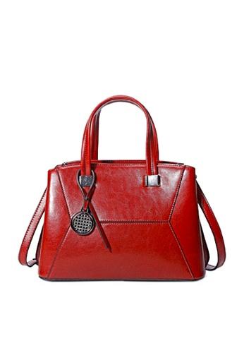 Twenty Eight Shoes red VANSA Vintage Burnished Leather Hand Bag VBW-Hb288 D158DAC64D4B0BGS_1
