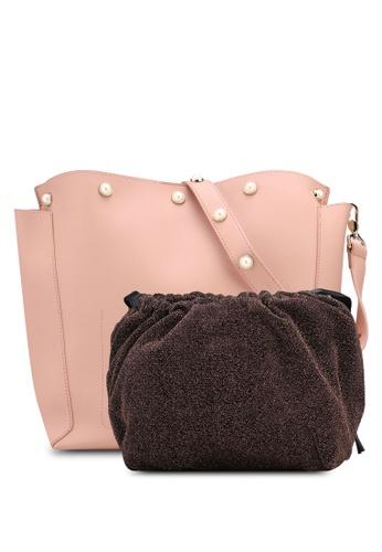 VINCCI pink Tote Bag CD1FDAC2D8B3ADGS_1