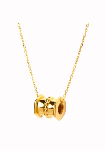 TOMEI gold [Online Exclusive] Love Lingers I Tube Minimalist Necklace - Tomei Yellow Gold 999 (24K) BTN-5D-010 B7344AC3BCD89BGS_1