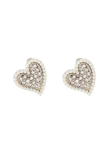 Dandelion silver Mini Pearls Love Earrings C4B59ACF211A8FGS_1