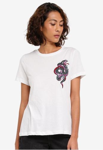 Vero Moda white Mami Box T-Shirt VE975AA0T0E8MY_1
