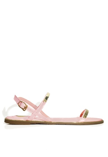Twenty Eight Shoes pink Sexy Strappy Flat Sandals VS8868 5C7F4SH97FF0C5GS_1