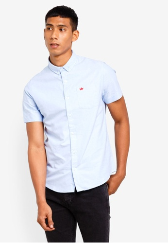 Brave Soul 藍色 短袖襯衫 5600BAAA0CC934GS_1