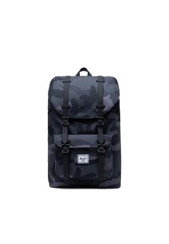 50% price cute designer fashion Herschel Little America Mid-Volume Core Backpack Night Camo -17L
