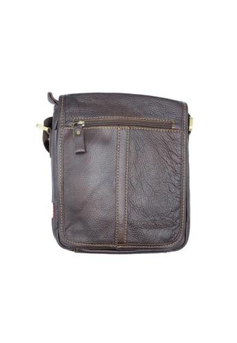 BAGGIO brown Baggio Genuine Leather Sling & Cross Body Bags 01A55ACF38B99CGS_1