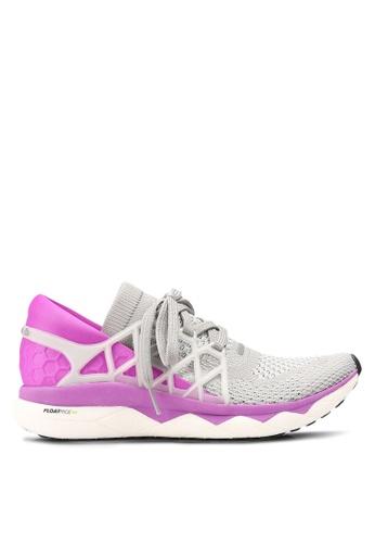 Reebok grey and purple Supreme Floatride Ultraknit Shoes RE691SH0RJ3VMY_1