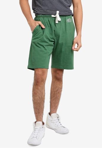 OVS 綠色 Men's 百慕達Sports 短褲 09BAFAA3029997GS_1