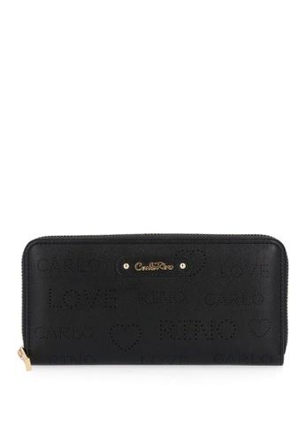 Carlo Rino black Black A Little Mischief Zip Wallet 5AB58ACBEA229FGS_1