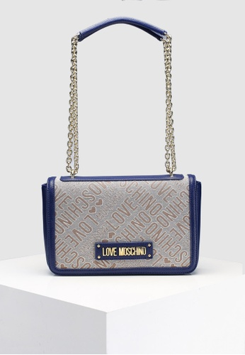 Love Moschino blue Tess Jacquard Shoulder Bag B4A01AC0E1F3B6GS 1. CLICK TO  ZOOM 615fe271c2722