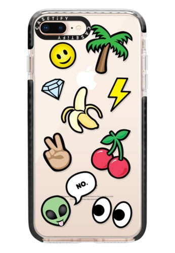 sale retailer 5f1a6 d0d78 Protective Impact Case with Camera Ring For iPhone 7+/8+ - Emoticons