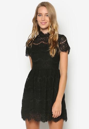 Kassidy 蕾絲高領洋裝,esprit outlet 香港 服飾, 洋裝