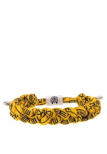 Rastaclat yellow Shoelace Bracelet: Spank RA072AC0ISBJPH_1